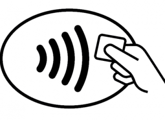 The contactless payments logo