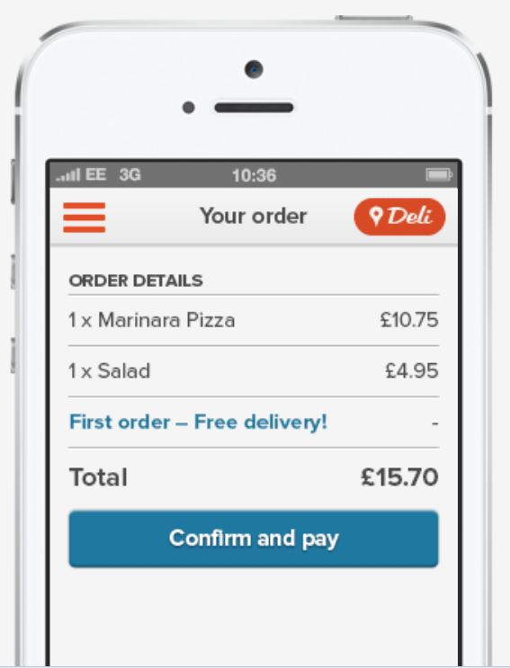 A mobile phone making in App payments