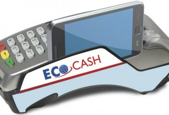 A POS machine showing a mobile payment