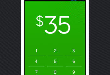 A phone showing payment