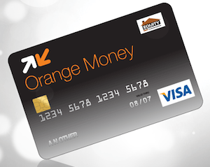 An Orange Money card with Visa Logo