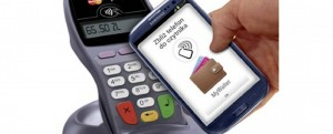 An NFC enable MyWallet phone at POS