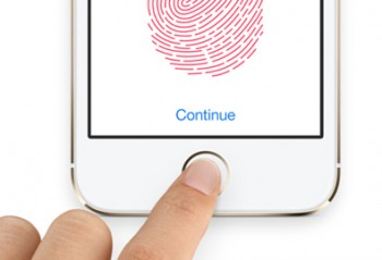 The Apple iPhone with Touch ID fingerprint recognition technology