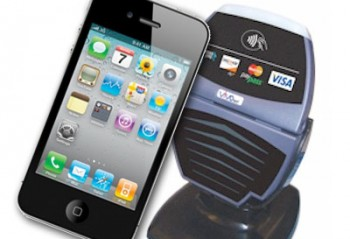 An iPhone being used at a contactless enabled POS