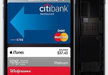 Apple Pay in motion on iPhone 6