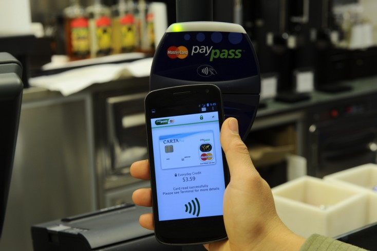 asterCard mobile NFC payment