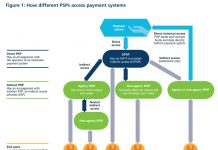 How different PSPs access payment systems