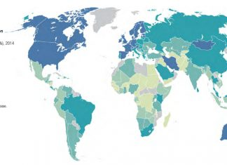 Cashless society - Bank account penetration worldwide