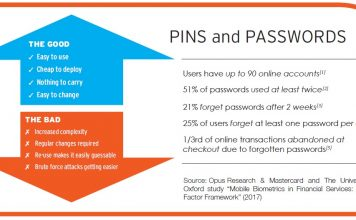 PINs and Passwords Vs mobile biometrics
